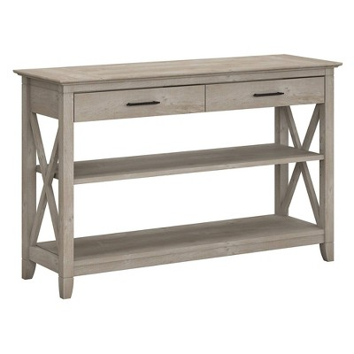 Key West Console Table with Drawers and Shelves Washed ...