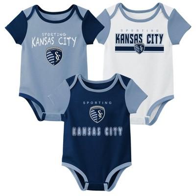 MLS Sporting Kansas City Baby 3pk Bodysuit Set