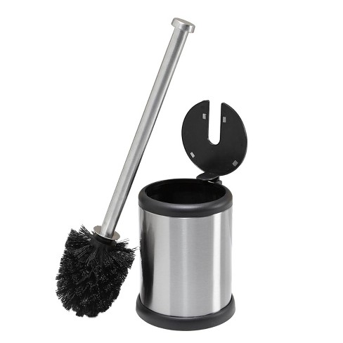 Self Closing Lid Toilet Brush and Holder Stainless Steel - Bath Bliss - image 1 of 4