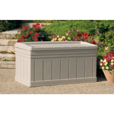 Resin Extra Large Deck Box With Seat - Taupe - Suncast, Brown