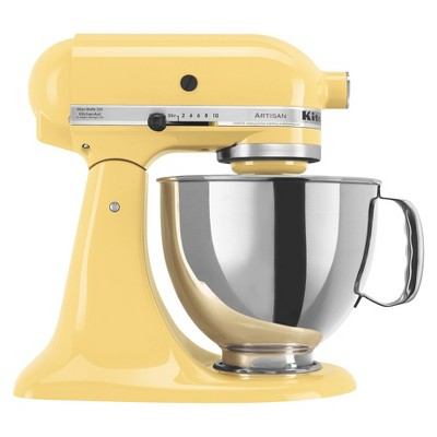 KitchenAid Artisan Series 5 Quart Tilt-Head Stand Mixer- Ksm150, Majestic Yellow