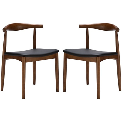Set of 2 Rena Mid Century Dining Chair Walnut - Poly & Bark - image 1 of 4