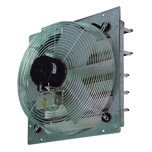 TPI Corporation CE14DS 14 Inch Aluminum 120 Volt Shutter Mounted Single Phase HVAC Direct Drive Exhaust Fan - image 1 of 1