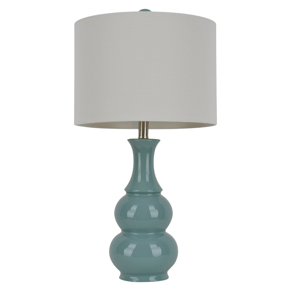 Image of J. Hunt Pearl Table Lamp, Turquoise/White