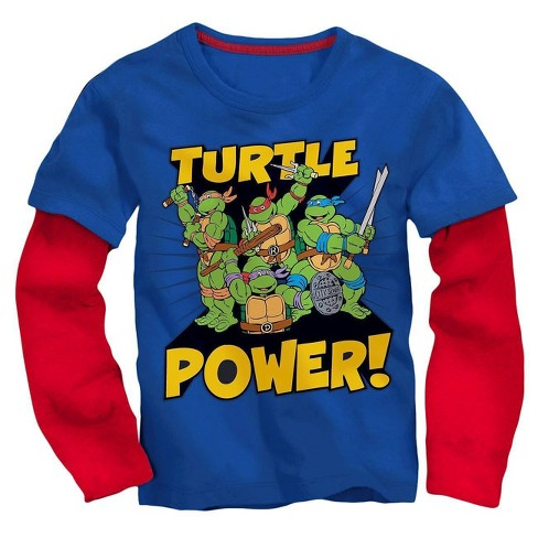 Toddler Boys' TMNT Long Sleeve T-Shirt - Royal/Red 2T - image 1 of 1