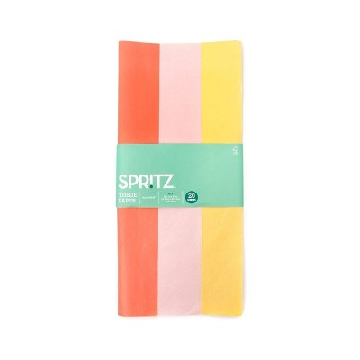 20ct Tissue Papers Coral/Pink/Yellow  - Spritz™