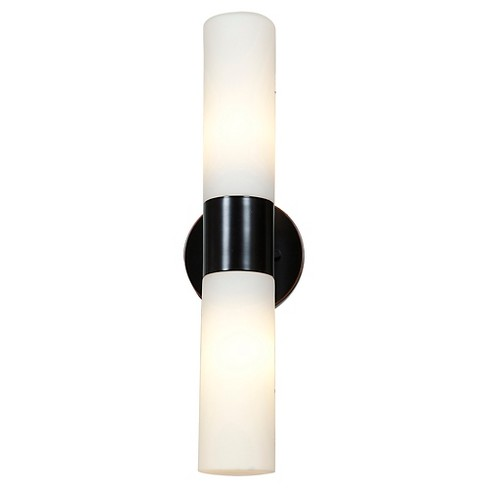 Eos 2-Light Outdoor Wall Light with Opal Glass Shade - Bronze - image 1 of 1
