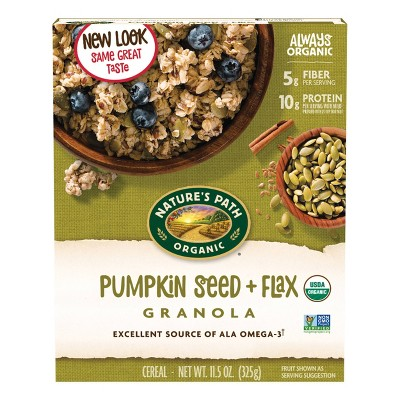 Nature's Path Flax Plus Organic Pumpkin Flax Granola Breakfast Cereal - 11.5oz