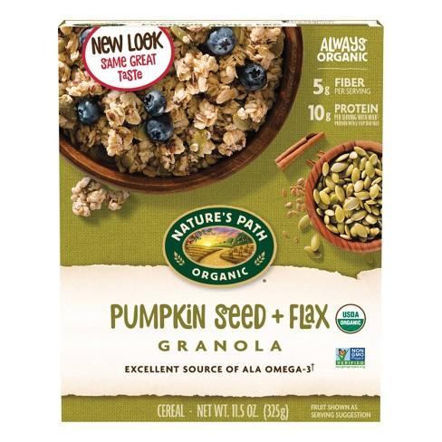 Nature's Path Flax Plus Organic Pumpkin Flax Granola Breakfast Cereal - 11.5oz - image 1 of 4