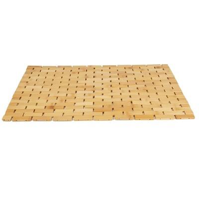 Mind Reader Flexible Mildew Resistant Bamboo Bath Mat Environmentally Friendly