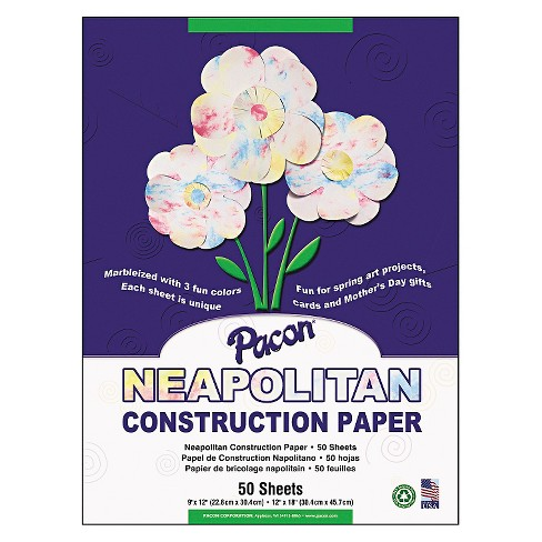 Pacon® Neapolitan Construction Paper, 63 lbs, 9 x 12 - 50 Sheets Per Pack - image 1 of 1