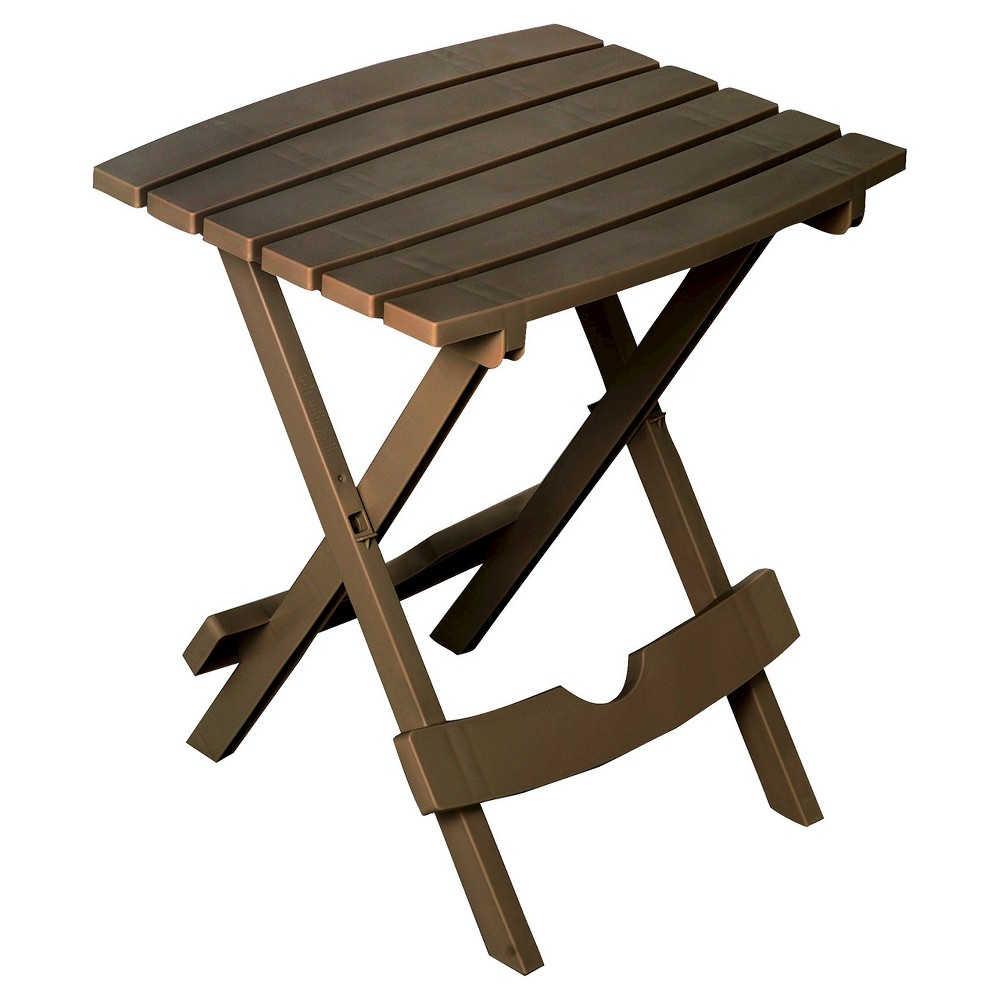 Image of Adams Quick Fold Side Table - Earth Brown