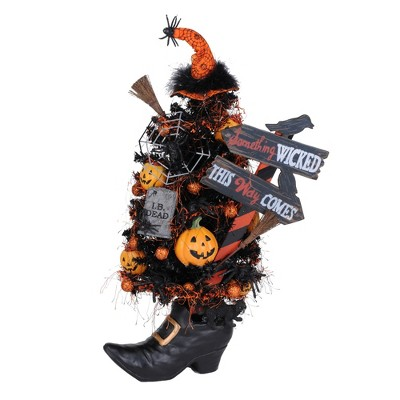 """Halloween 21.5"""" Spooktacular Tree Witch Boot Jol Lighted Scary  -  Decorative Figurines"""