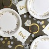 10ct Large Dinner Plates White/Gold - Spritz™ - image 2 of 2