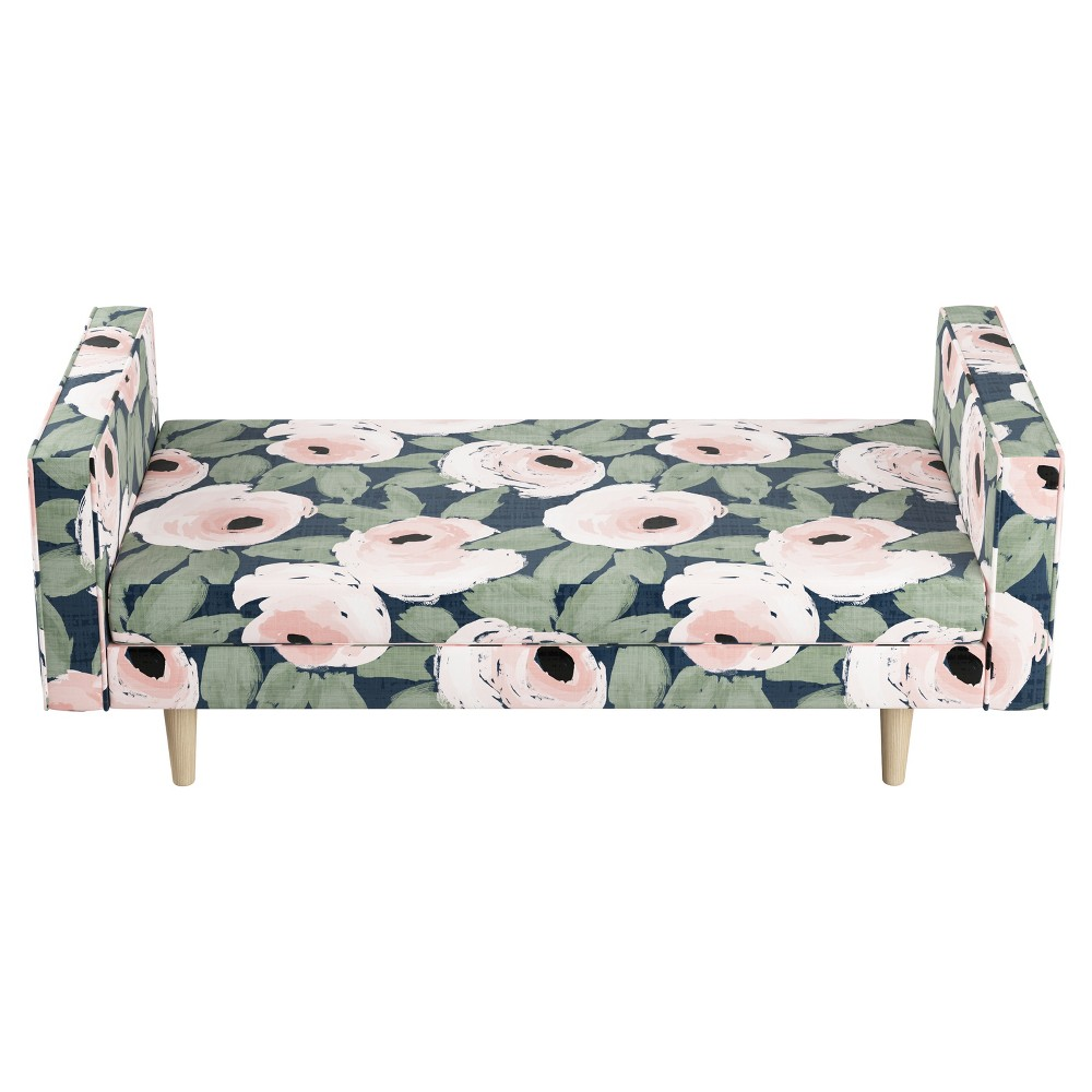 Weston Queen Adult Welted Daybed - Bloomsbury Rose Blush ...