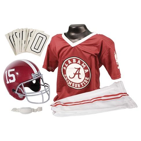 lowest price 207f8 569f6 Franklin Sports Team Licensed Alabama Crimson Tide Deluxe Football Uniform  Set