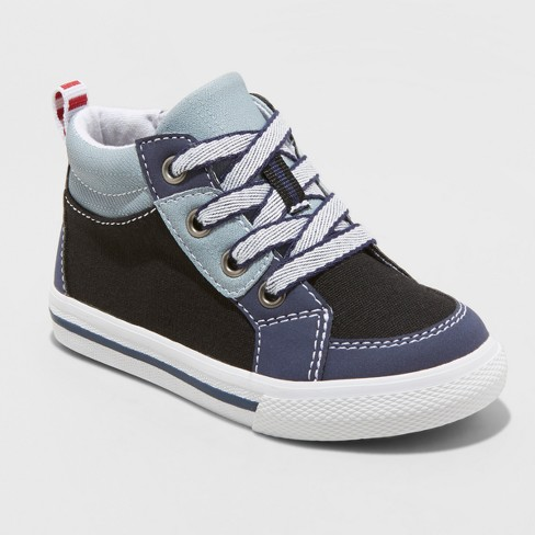 Toddler Boys' Stephan High Top Sneakers - Cat & Jack™ Black - image 1 of 3
