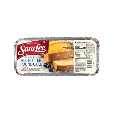 Sara Lee Family Size All Butter Pound Cake - 16oz