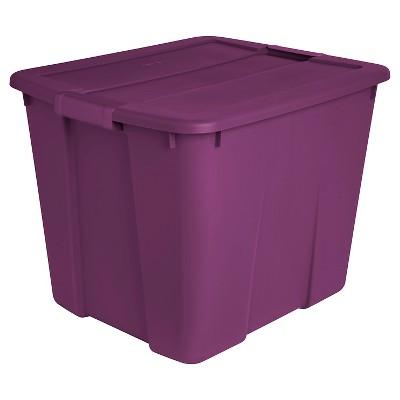 Sterilite 20 Gal Latch Tote Exotic Purple