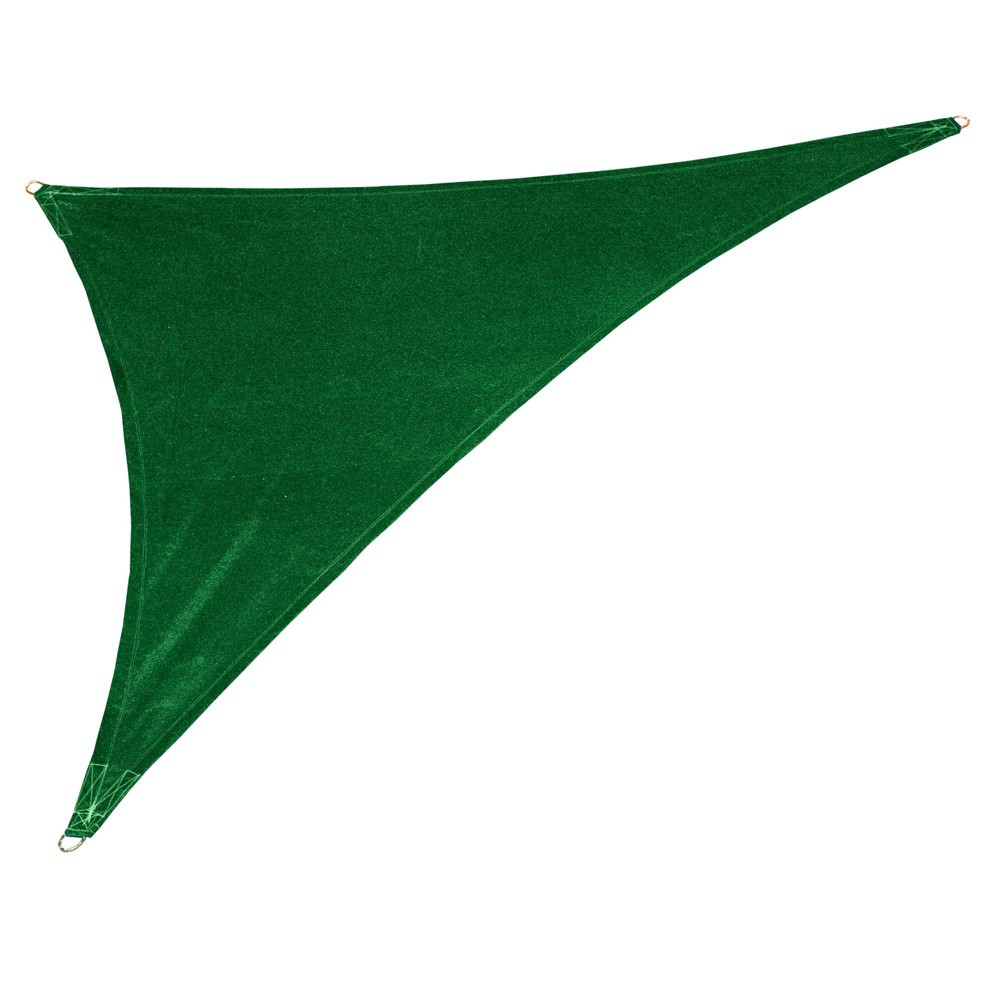 Image of 12' Coolhaven Shade Sail Kit Right Triangle - Heritage Green - Coolaroo, Size: 15'x12'x9' Right Triangle