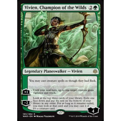 Magic the Gathering MTG WAR OF THE SPARK VIVIEN CHAMPION OF THE WILDS RARE