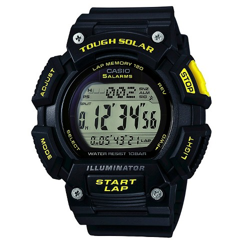 Casio® Men's Extra Large Solar Runner Watch - Black - image 1 of 1