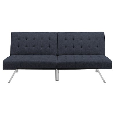 Eve Velvet Upholstered Convertible Futon - Room & Joy