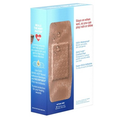 Bandages & Gauze: Band-Aid Waterproof Tough Strips