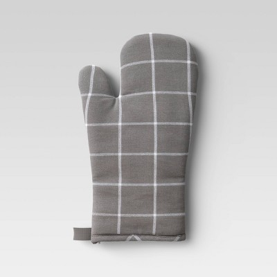 Yarn Dyed Woven Oven Mitt Gray - Room Essentials™
