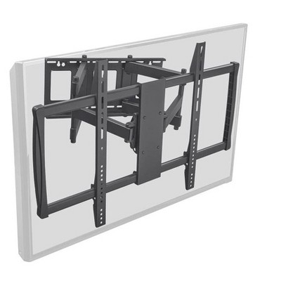 Monoprice Stable Series Full-Motion Articulating TV Wall Mount Bracket - Black | No Logo For TVs 60in to 100in, Max Weight 178lbs, VESA Up to 900x600