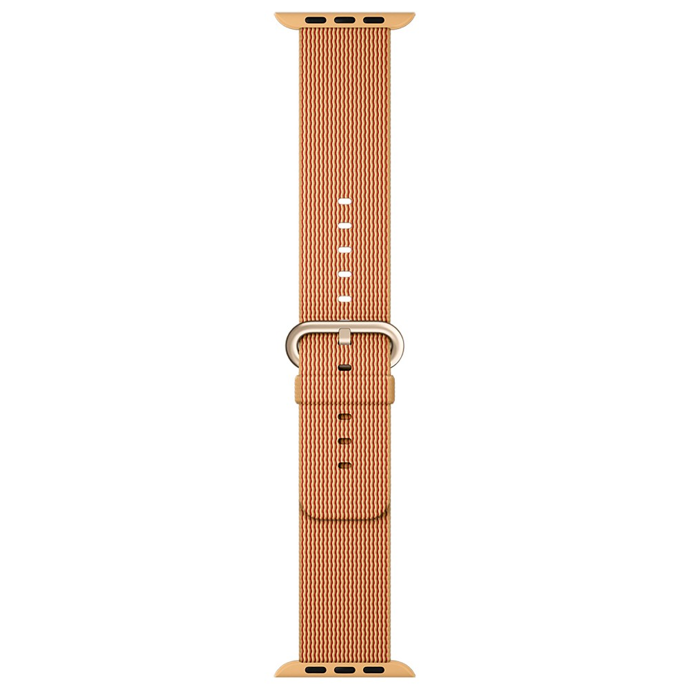 Apple Watch Woven Nylon Band 42mm - Gold/Red, Adult Unisex