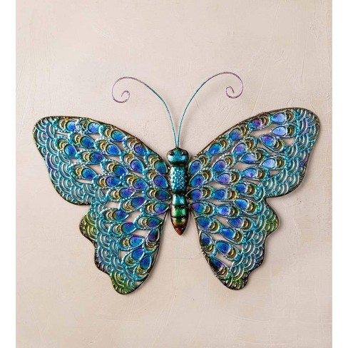 Iridescent Metal 3D Butterfly Wall Art - Plow & Hearth - image 1 of 1