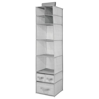 mDesign Over Closet Rod Nursery Storage Organizer with Drawers
