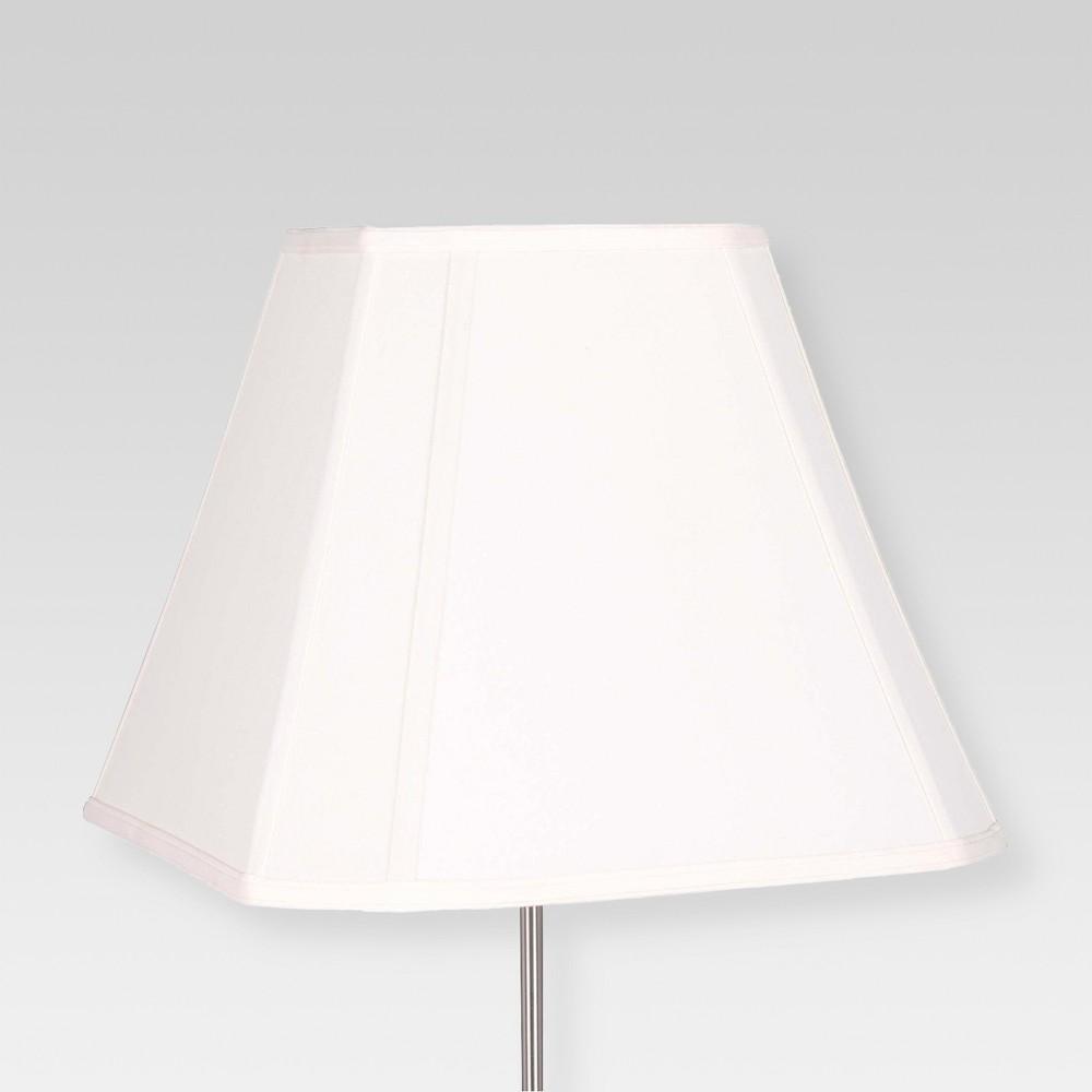 Image of Large Cut Corner Lamp Shade Square White - Threshold