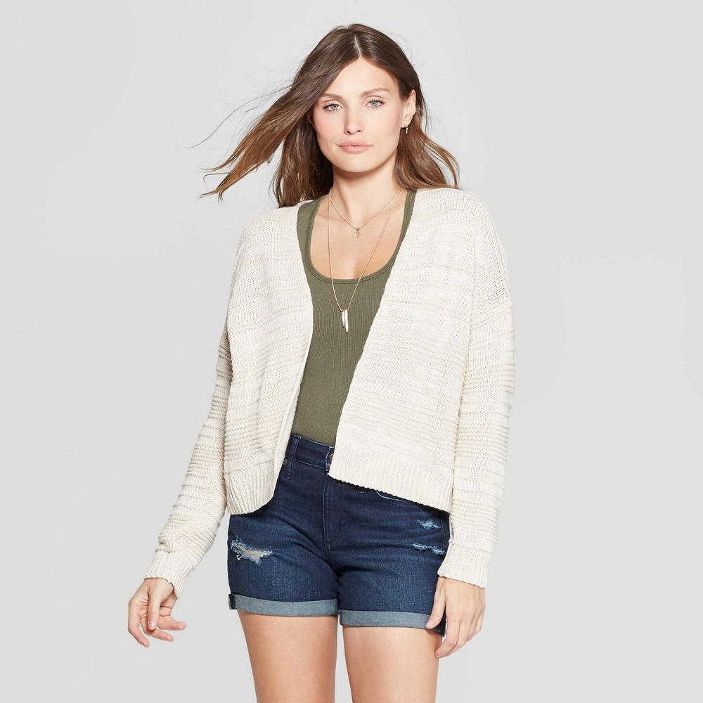 Women's Textured Open Layering Cardigan - Universal Thread Beige XL