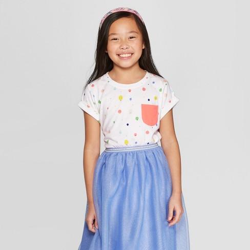 a2636506fa5 Girls  Short Sleeve Fruit Print Pocket T-Shirt - Cat   Jack™ White   Target