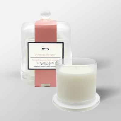 8.2oz Cloche Glass Jar Candle Citrus Peony - Threshold™