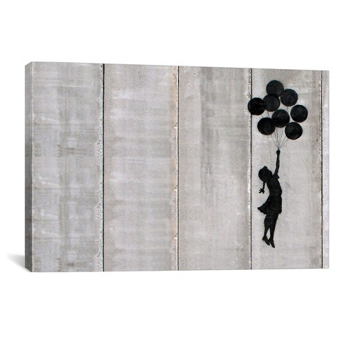 Flying Balloons Girl by Banksy Canvas Print - image 1 of 2