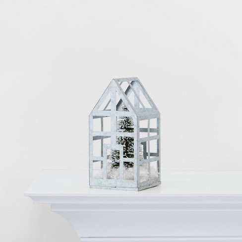 Galvanized Green House with Tree Decorative Figurine  - Wondershop™ - image 1 of 2