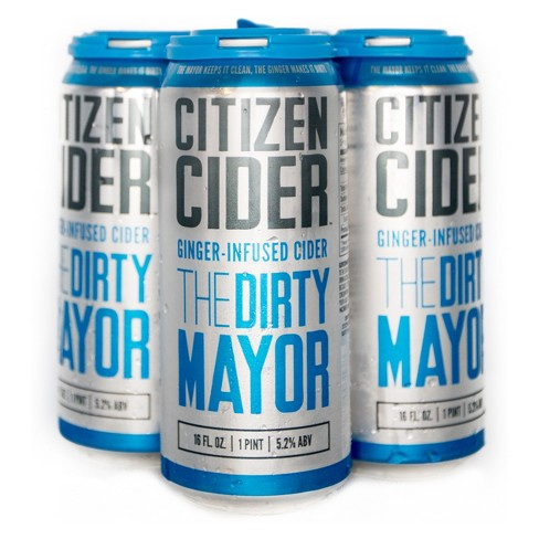 Citizen Dirty Mayor Hard Cider - 4pk/16 fl oz Cans - image 1 of 2
