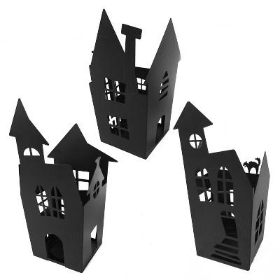 3pk Metal House Luminary - Bullseye's Playground™