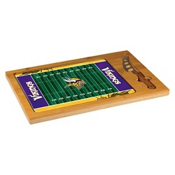 Picnic Time NFL Team Icon Cutting Board Tray and Knife Set