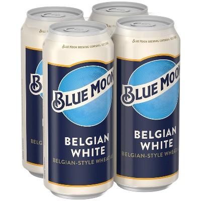 Blue Moon Belgian White Wheat Ale Beer - 4pk/16 fl oz Cans