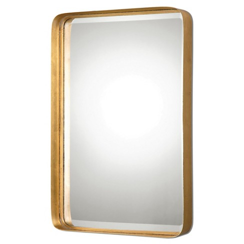 Rectangle Crofton Antique Decorative Wall Mirror Gold Uttermost
