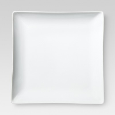 Square Dinner Plate - White 11.3 x10.3  - Threshold™