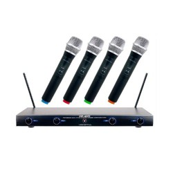 VocoPro VHF-4005 4 Channel Rechargeable VHF Wireless Microphone System