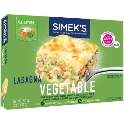 SIMEK'S All Natural Vegetable Lasagna – 32oz
