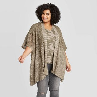 Women's Lightweight Knit Kimono - Universal Thread™ Olive One Size