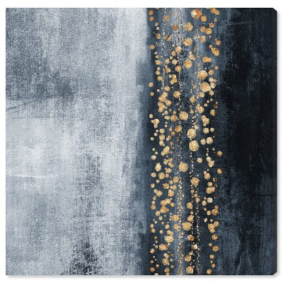 """12"""" x 12"""" Down The River Abstract Unframed Canvas Wall Art in Blue - Oliver Gal"""