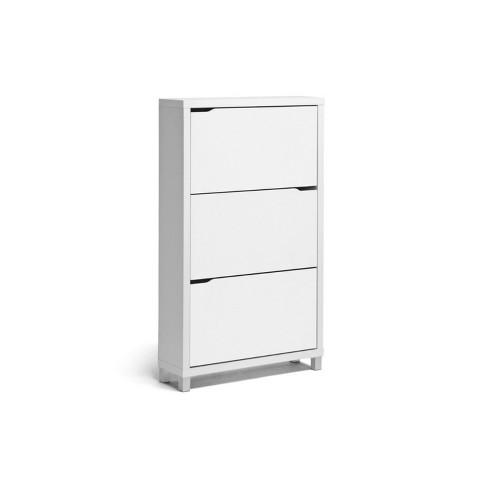 Simms Modern Shoe Cabinet White - Baxton Studio - image 1 of 4
